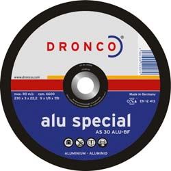 Отрезной диск по алюминию и  цветных металлам, special, DRONCO AS 30 ALU, Ø230, 1231165 ― DRONCO SHOP